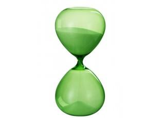 Zelené skleněné přesýpací hodiny Hourglass - Ø 14*30cm