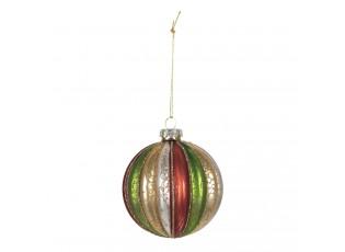 Barevná, skleněná vánoční ozdoba (sada 4ks) -Ø8 cm