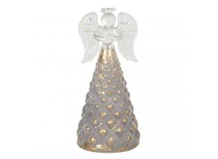 Dekorační svítící skleněný anděl - Ø 6*12 cm