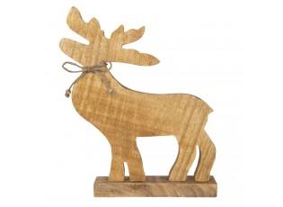 Dřevěná dekorace Jelen - 15*5*29 cm