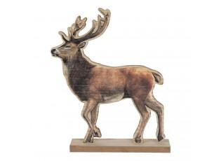 Dřevěná dekorace soba na podstavci - 22*5*26 cm