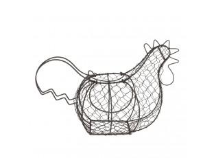 Drátěný stojan na vajíčka v designu slepice - 40*23*28 cm
