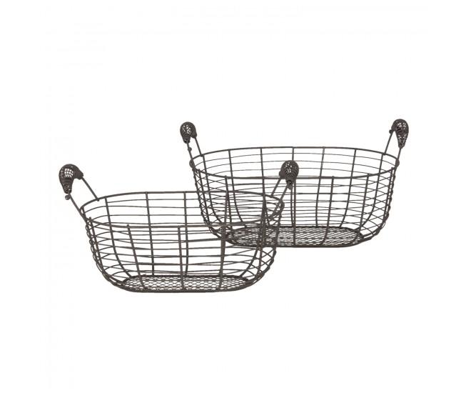 Sada 2 drátěných košíků Filaire - 35*19*16 / 30*15*14 cm