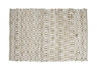 Přírodní / bílý koberec z juty / viskózy - 60*90*1cm