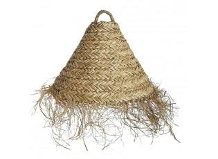 Přírodní závěsné stínidlo z mořské trávy s třásněmi - Ø 40*32cm