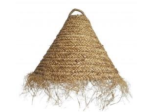 Přírodní závěsné stínidlo z mořské trávy s třásněmi - Ø 60*48cm