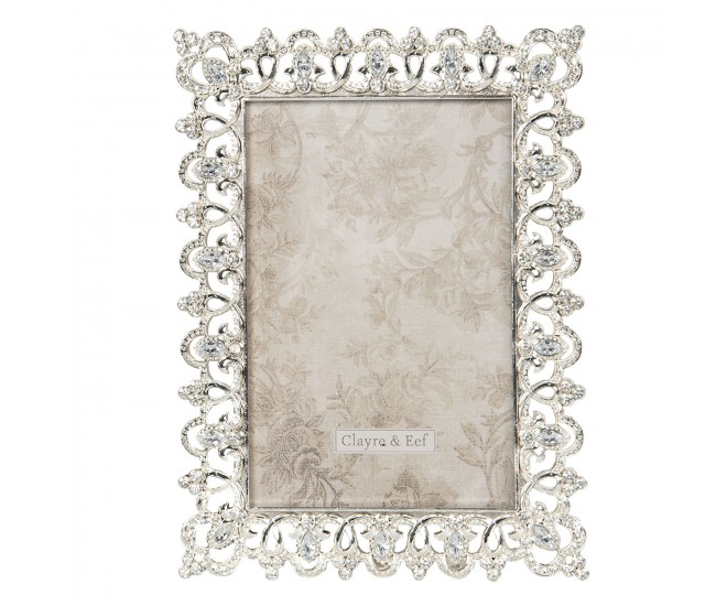 Stříbrný fotorámeček zdobený zirkony Aimeri - 9*2*11 cm / 5*7 cm