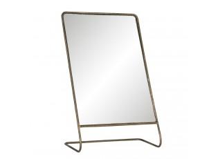 Stojací vintage zrcadlo ve zlatém kovovém rámu Dianne - 22*11*36 cm