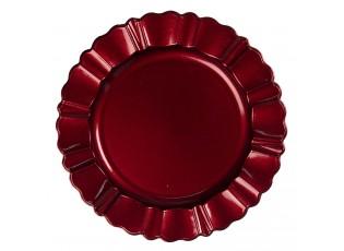 Červený melaninový talíř / podnos - Ø  33 cm