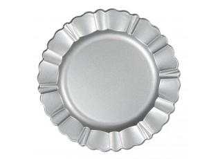 Stříbrný melaninový talíř / podnos - Ø 33 cm