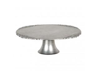 Stříbrný podnos na dorty - Ø  32*10 cm