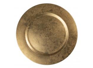 Zlatý melaminový talíř - Ø 33 cm