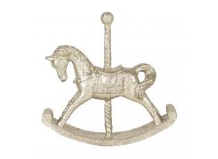 Zlatá dekorace houpací koník - 10*2*10 cm