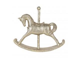 Zlatá dekorace houpací koník - 15*3*13 cm
