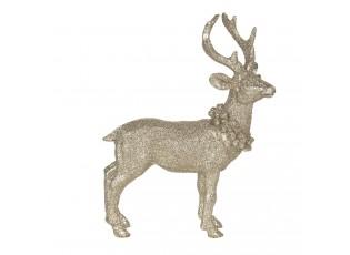 Zlatá dekorace Jelen - 16*6*21 cm