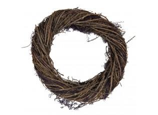 Dekorační dřevěný věnec Etienne – Ø 40*9 cm