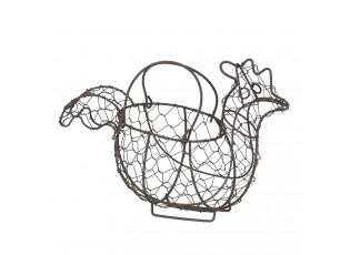 Drátěný držák na vajíčka v designu slepice Filaire - 28*14*20 cm