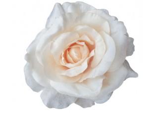 Dekorační květina krémovo-růžová růže s klipem - Ø14*7 cm
