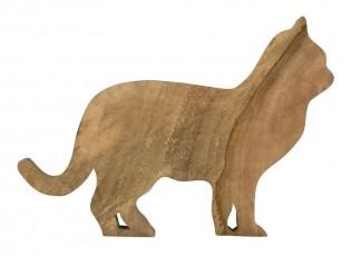 Dřevěné mangové prkénko kočka - 44*31*2cm