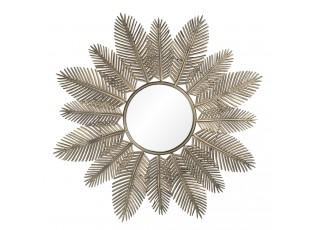 Zrcadlo ve zlatém rámu s listy Hamblin – Ø 84*3 cm