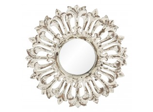 Nástěnné zrcadlo v rámu s ornamenty a patinou Herluin – Ø 60*4 cm