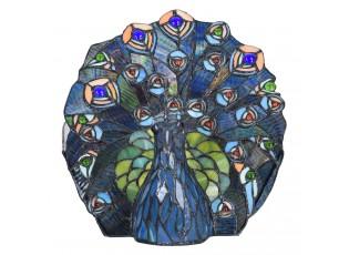 Stolní lampa Tiffany v designu páva - 32*30 cm E14/max 1*40W