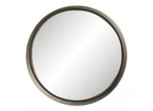 Velké zrcadlo s šedým rámem Emaurri – Ø 56*10 cm