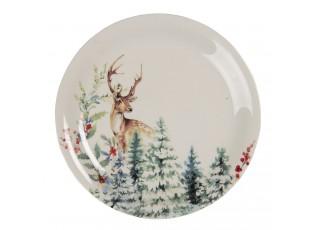 Dezertní keramický talířek Dearly Christmas – Ø 20 cm