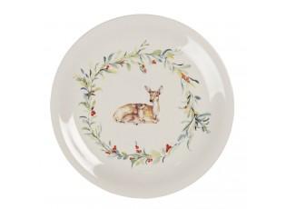 Keramický jídelní talíř Dearly Christmas – Ø 28 cm