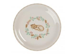 Keramický talíř s liškou Fox – Ø 20 cm