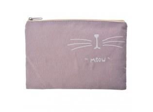 Toaletní taška Meow světlá - 19*14 cm