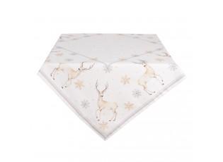 Bavlněný ubrus Pastel Christmas - 100*100 cm