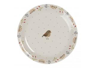 Keramický talíř s motivem ptáčka Moineau – Ø 20 cm