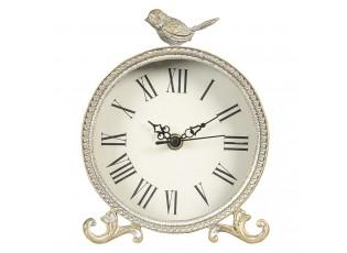 Stolní vintage hodiny s ptáčkem Jori - 14*4*19 cm / 1*AA