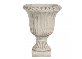Šedý betonový květináč ve tvaru číše - Ø 20*25 cm