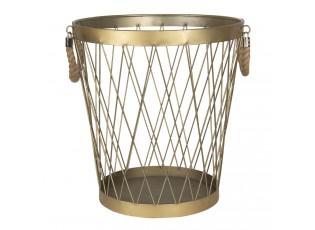 Zlatý kovový koš Charlemagne – Ø 35*38 cm