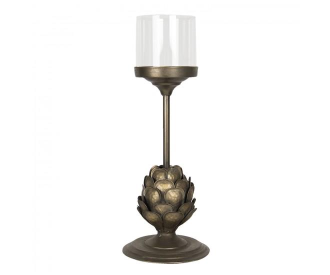 Vintage bronzový svícen Lammert – Ø 18*49 cm