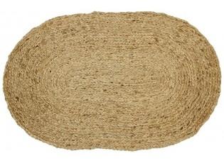 Přírodní jutový oválný koberec - 150*120cm