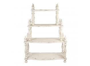 Bílý dřevěný ozdobný policový regál Kirsty - 120*48*159 cm