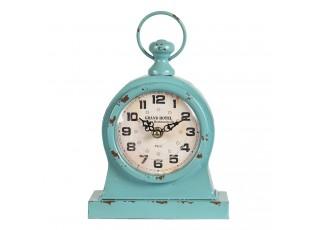 Zelené stolní vintage hodiny Rue Montmartre - 16*8*24 cm