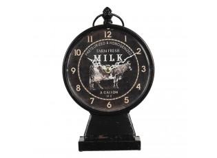Černé stolní hodiny ve vintage stylu Farm Fresh - 16*8*28 cm / 1*AA