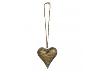 Zlaté antik závěsné srdce - 14*4*16 cm