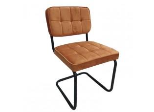 Sametová oranžová jídelní židle Capri - 49*82*57 cm
