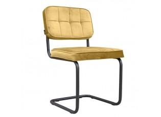 Sametová zlatá jídelní židle Capri - 49*82*57 cm