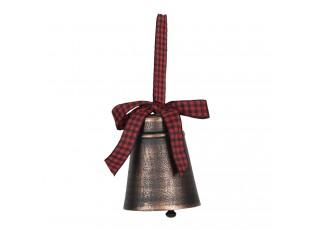 Hnědý kovový zvonek s patinou - Ø 7*9 cm