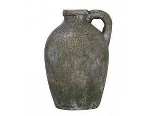 Retro džbán cementový mechově zelený  - 15*14*21cm