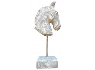 Dekorace hlava koně na noze - 15*9,5*33,5 cm