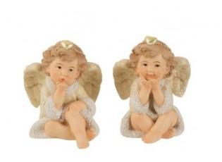 Sada 2x sedící anděl- 7*7*8,5cm