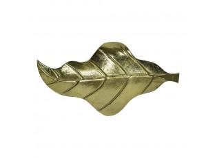Zlatý dekorační kovový podnos / miska ve tvaru listu Banana- 36*18*3cm