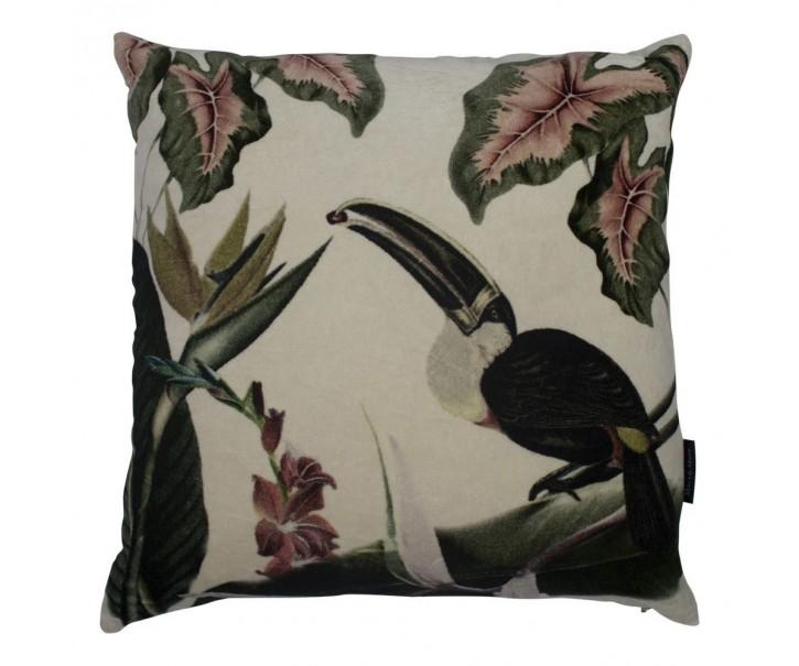 Sametový polštář exotic Toucan - 45*45*10cm